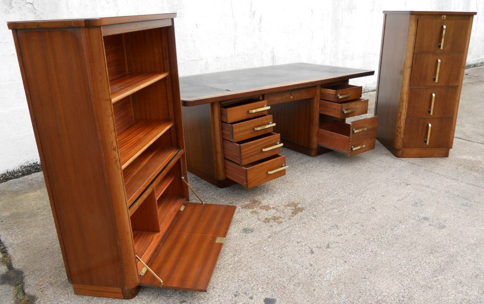Writing Desk & Matching Filing Cabinet & Display Cabinet by Abbess